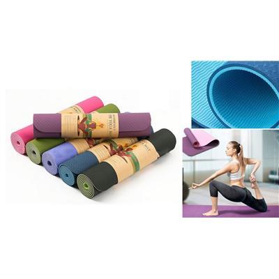 Thảm Tập Yoga MAT, Tập Gym Cao Su Tpe 2 Lớp Dày 6mm Cao Cấp Siêu Bền